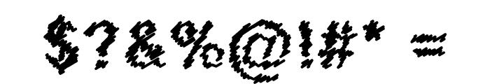 Scribbled Regular Font OTHER CHARS