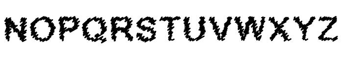 Scribbled Regular Font UPPERCASE