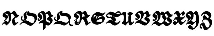ScribbledFraktur-XHeavy Font UPPERCASE