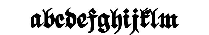 ScribbledFraktur-XHeavy Font LOWERCASE