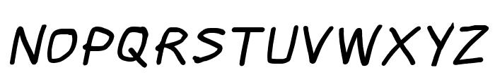 Scribbler Black Italic Font UPPERCASE
