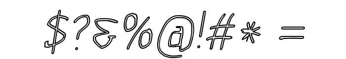 Scribbler Clear Italic Font OTHER CHARS