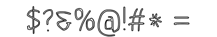 Scribbler Clear Font OTHER CHARS