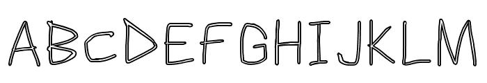 Scribbler Clear Font UPPERCASE