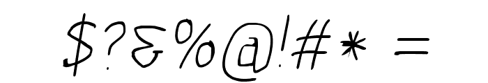 Scribbler Hairline Italic Font OTHER CHARS
