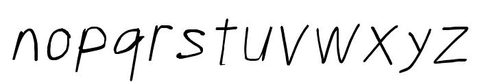Scribbler Hairline Italic Font LOWERCASE