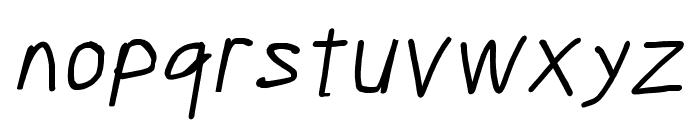 Scribbler Italic Font LOWERCASE