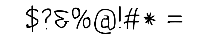 Scribbler Light Font OTHER CHARS