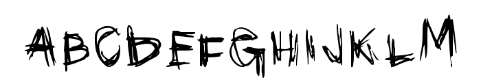 Scribblicious Font UPPERCASE