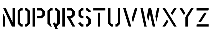 Scriber-BoldStencil Font UPPERCASE