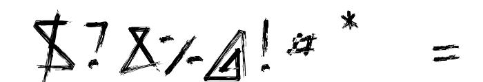Script Demolition Font OTHER CHARS