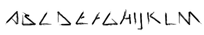 Script Demolition Font UPPERCASE