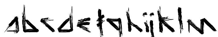 Script Demolition Font LOWERCASE
