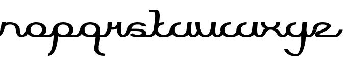 Script Machine Font LOWERCASE