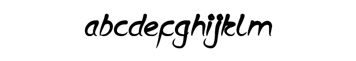 Script Thing Font LOWERCASE