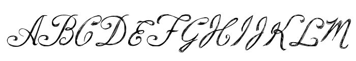 Script Writing Font UPPERCASE