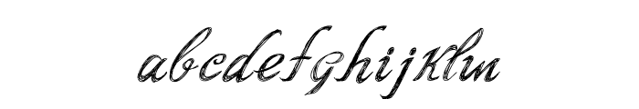 Script Writing Font LOWERCASE