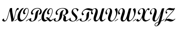 ScriptOpti-Light Font UPPERCASE
