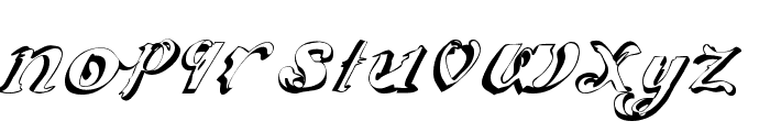 ScripteriaCola Font LOWERCASE