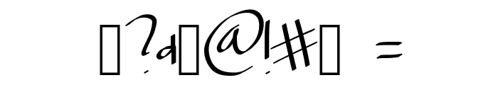 Scriptfont Font OTHER CHARS