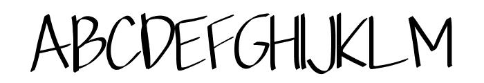 Scriptfont Font UPPERCASE