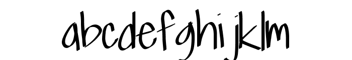 Scriptfont Font LOWERCASE