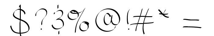 Scriptish Font OTHER CHARS