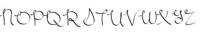 Scriptish Font UPPERCASE