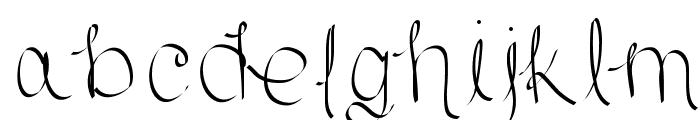 Scriptish Font LOWERCASE