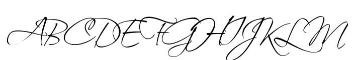 Scriptus Font UPPERCASE