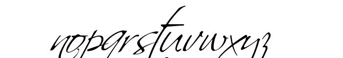 Scriptus Font LOWERCASE