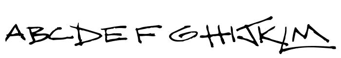 ScritchyEye Font UPPERCASE