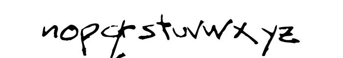 ScritchyEye Font LOWERCASE