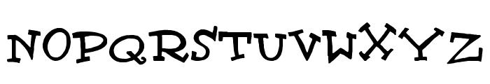 Scrubadoo Font UPPERCASE