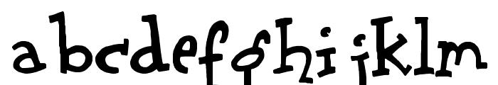 Scrubadoo Font LOWERCASE