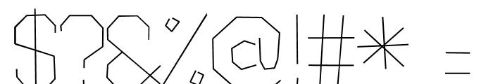 Scruffy-Light Font OTHER CHARS