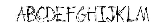 Scrum-Bucket Font UPPERCASE