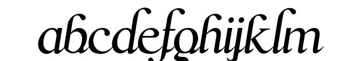 Scrypticali Italic Font LOWERCASE