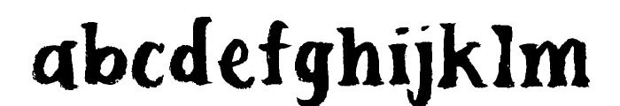 Scuffle Font LOWERCASE
