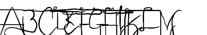 Sculptors Hand Alternatives Font UPPERCASE