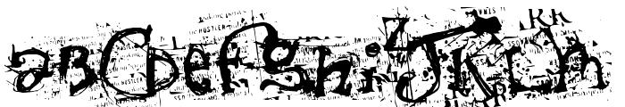 Scumbag Pornking Font UPPERCASE