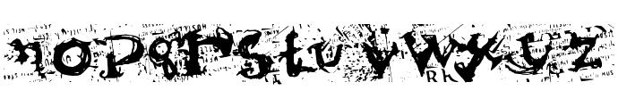 Scumbag Pornking Font LOWERCASE