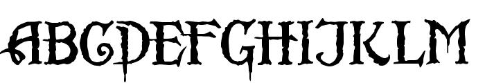Scurlock Font UPPERCASE