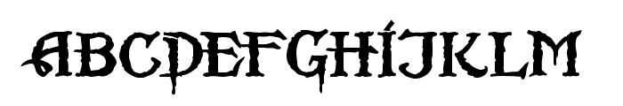 Scurlock Font LOWERCASE