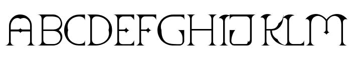 Scythe Font UPPERCASE