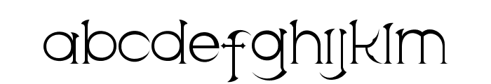 Scythe Font LOWERCASE