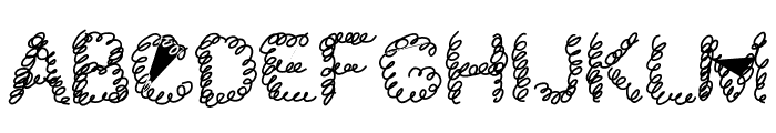 schnoodle Font UPPERCASE