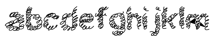 schnoodle Font LOWERCASE