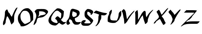 scraapribbon Font UPPERCASE