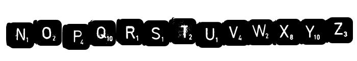 scrabble Font UPPERCASE